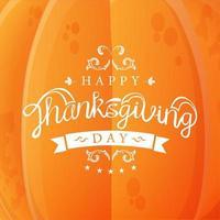 happy thanksgiving pompoen sjabloon