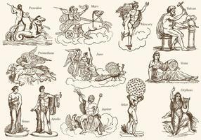 Griekse Mythologie Charactersq