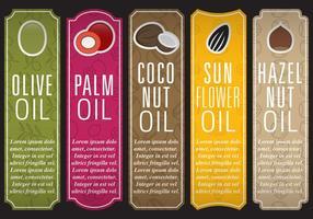 Olie-vectische labels vector