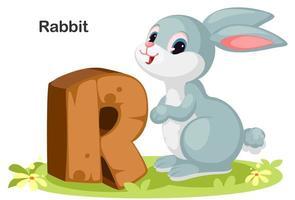 r voor konijn