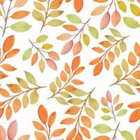 aquarel herfst seizoen natuur naadloze patroon met tak vector