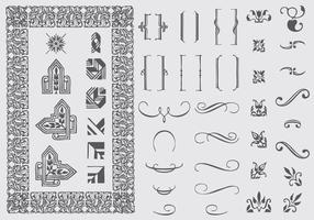 Typografische Ornamenten vector