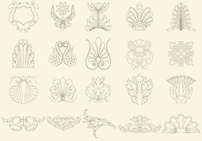 Dunne Line Decorations vector