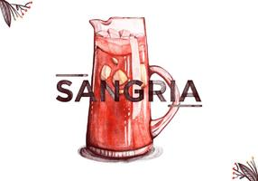 Gratis Sangria Waterverf Achtergrond