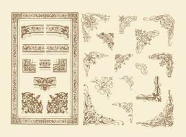 Typografische hoeken vector