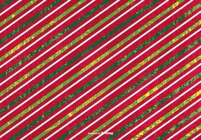 Grunge Gestreepte Kerst Achtergrond vector
