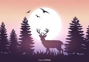 Mooie Vector Landschap Illustratie