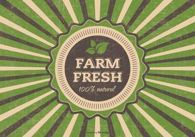 Grunge Farm Fresh Vector Illustratie