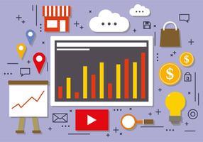 Online groei vector illustratie