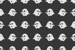 ghost naadloze patroon op zwarte achtergrond.