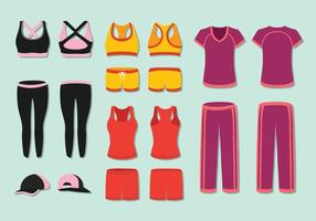 Free Woman's Tracksuit Vector