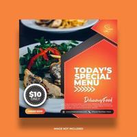 creatieve minimale kleurrijke banner voor voedsel sociale media