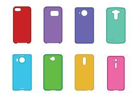 Telefoon case set vector