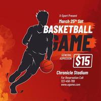 basketbal spel flyer ontwerp vector