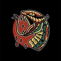 slang hoofd tattoo vector