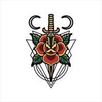 roos en dolk tattoo