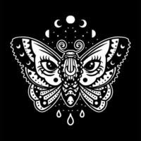 nachtelijke mot tatoeage vector
