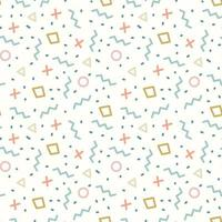 retro geometrische lijn van Memphis vormt naadloos patroon