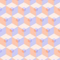 naadloze 3D-pastel kubus patroon