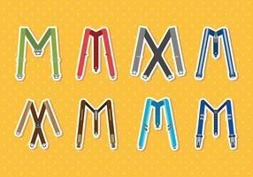Kleurrijke Suspenders Vectoren