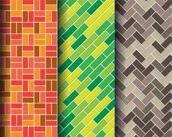 kleurrijke bakstenen muurpatronen vector