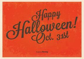 Vintage Gelukkige Halloween Achtergrond