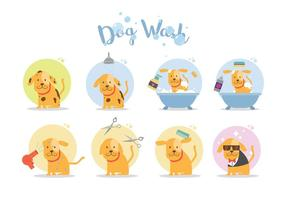 Gratis Dog Wash Vector