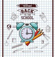 terug naar school seizoen poster vector