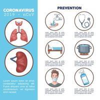 coronavirus infographic met preventiepictogrammen