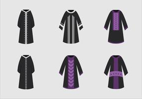Abaya jurk zwart model vector