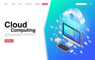 bestemmingspagina voor cloud computing-services en technologie