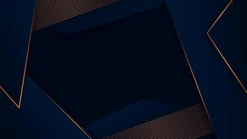 abstracte veelhoekige luxe donkerblauw met gouden patroon