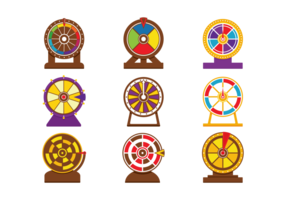 Vector spinnend wiel spel