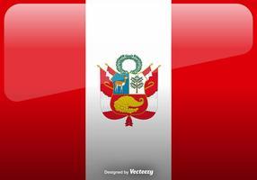 Vector Peru Flag Icon Achtergrond