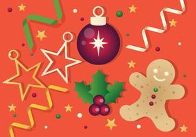 Gratis Vector Kerst Achtergrond Illustratie