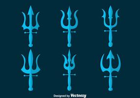 Poseidon symbool collectie vector