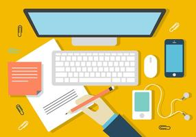 Gratis Designer Desk Illustratie vector