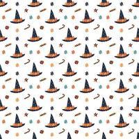 happy halloween naadloze patroon vector