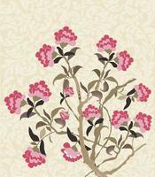 vintage kaart met bloemdessin vector