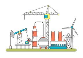 Factory Vector Illustratie