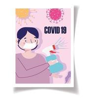 poster sjabloon voor coronaviruspreventie vector