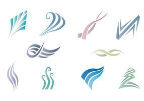 Swish object abstracte gradiënt kleur vector pack