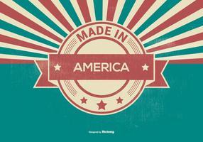 Retro Gemaakt In Amerika Illustratie vector