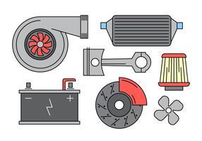 Gratis Vector Auto Parts