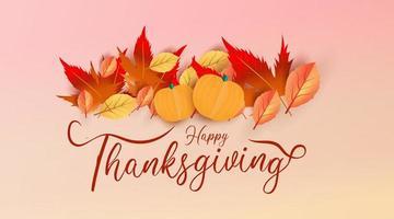 thanksgiving tekst versierd op zacht roze verloop