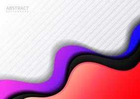 abstracte blauwe, roze gradiëntgolfvormlaag op wit