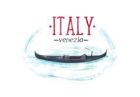 Gratis Italië Venetië Waterverf Vector