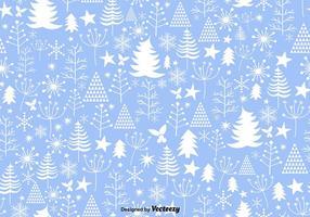 Blauw Winter Kerst Naadloos Patroon vector