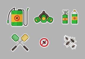 Pest control icon set vector