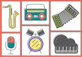 Gratis Vector Muzikale Instrumenten